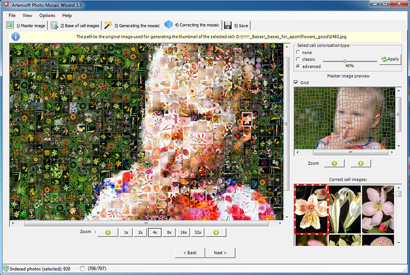 Artensoft Photo Mosaic Wizard 1.8.128 software screenshot