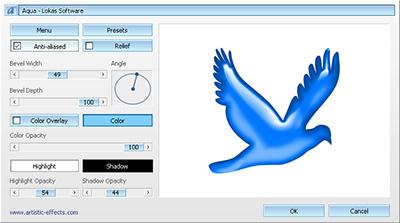 Artistic Effects 1.8 software screenshot