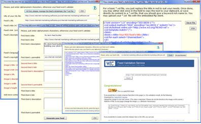 Atom feed builder 1.0 software screenshot