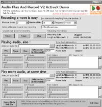 Audio Play And Record OCX 2.13 software screenshot
