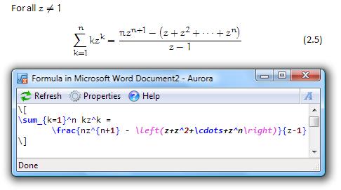 Aurora 2.1 software screenshot