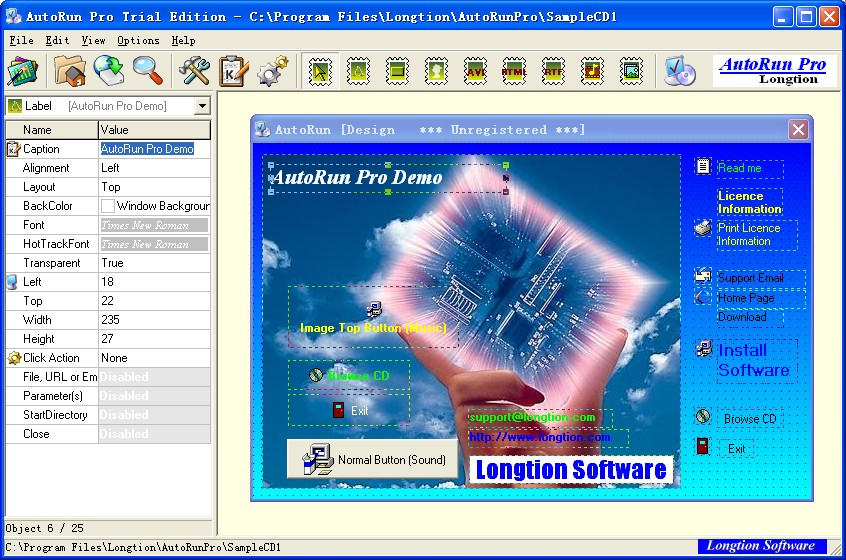 AutoRun Pro 8.0.16.200 software screenshot