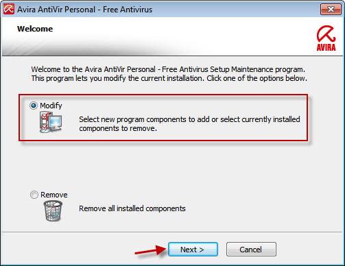 Avira Free Antivirus 15.0.27.34 software screenshot