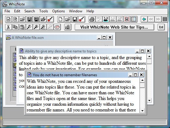 AvniTech WhizNote 3.5.8 software screenshot