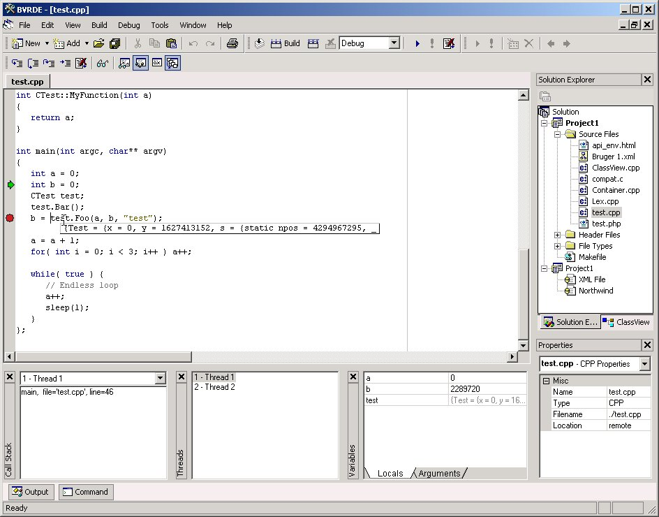 BVRDE 1.3b software screenshot