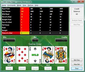 BVS Video Poker 2.1 software screenshot