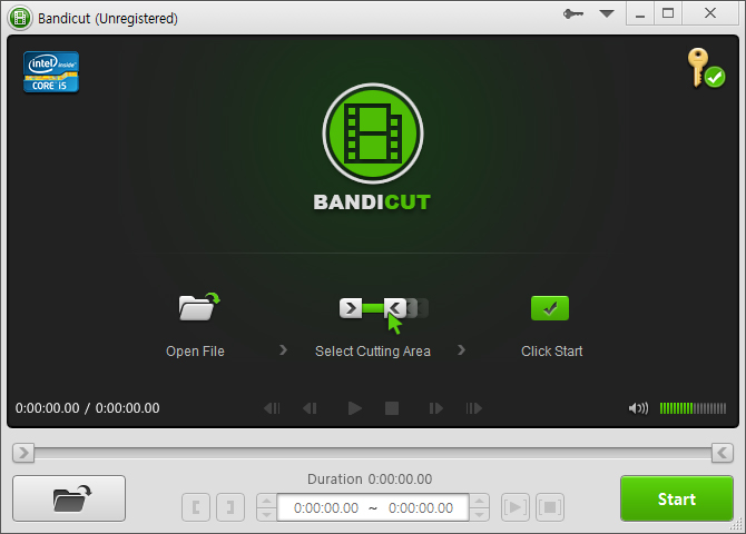 Bandicut 2.8.0.340 software screenshot