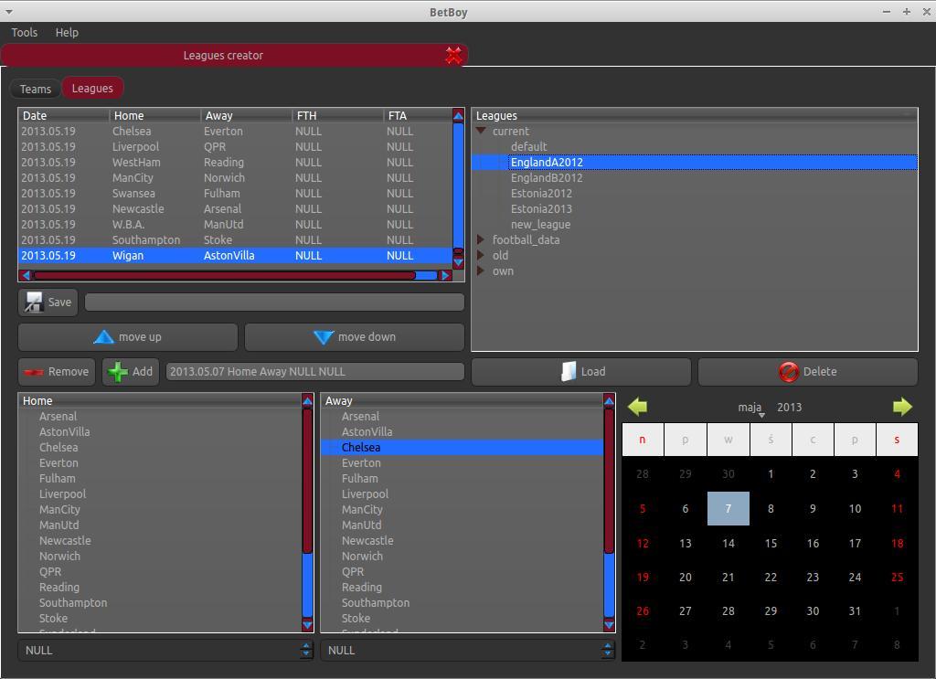 BetBoy 0.6.2 Beta software screenshot