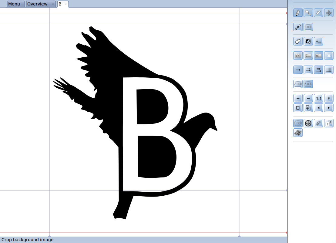 BirdFont 2.19.0 software screenshot
