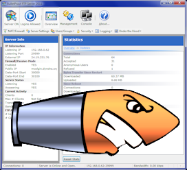 BulletProof FTP Server 2011.1.0.71 software screenshot
