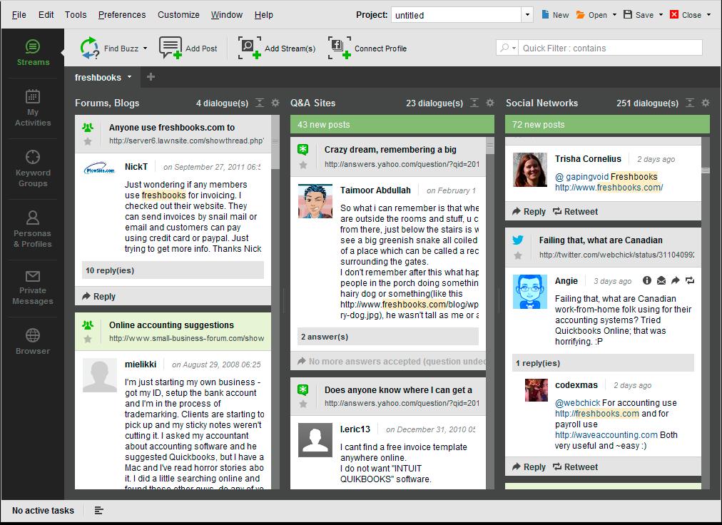 BuzzBundle 2.36 software screenshot
