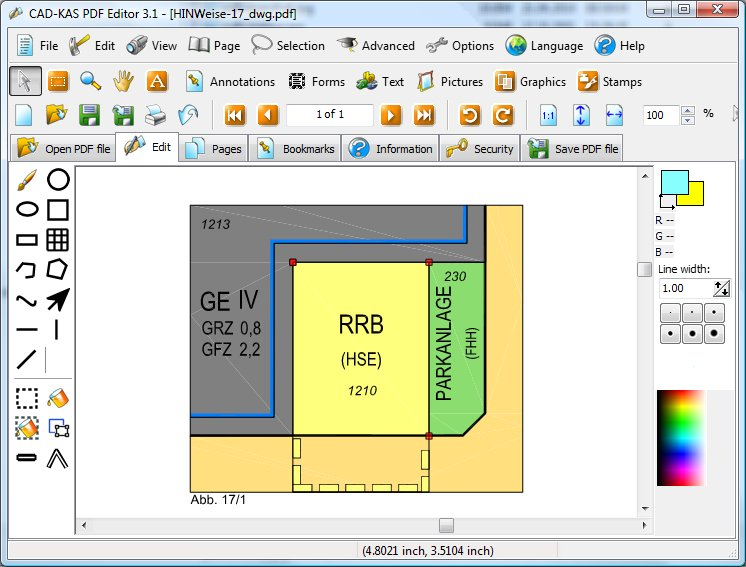 CAD KAS PDF Editor 3.3 software screenshot