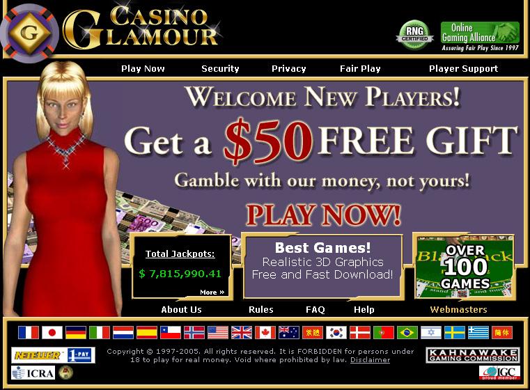 CASINO GLAMOUR 6.5 software screenshot