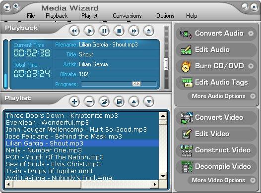 CDH Media Wizard 11.0 software screenshot