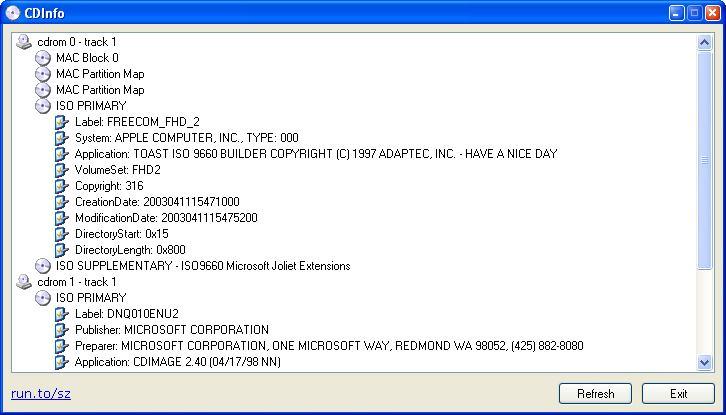 CDInfo 1.12 software screenshot