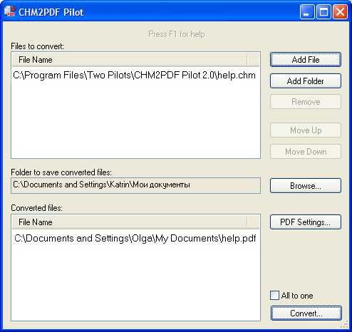 CHM2PDF Pilot 2.22 software screenshot