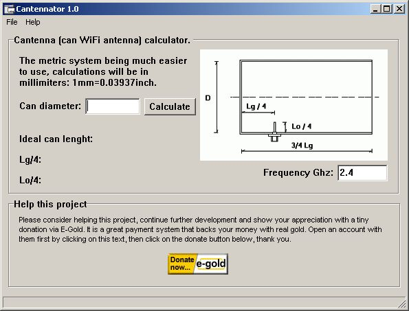 Cantennator 1 software screenshot
