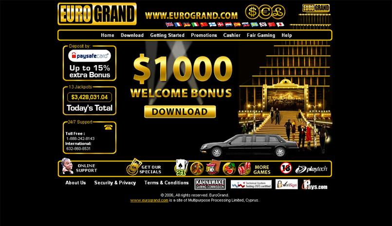 Casino Online 1.0 software screenshot