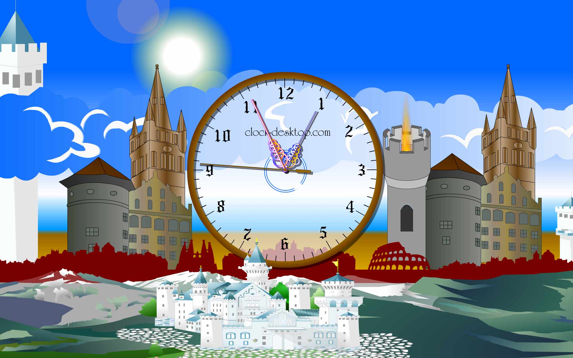 Castle Clock ScreenSaver 2.5 software screenshot