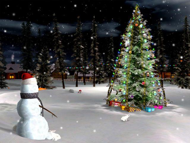 Christmas Eve 3D Screensaver 1.2 software screenshot