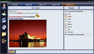 CommFort 5.87 software screenshot