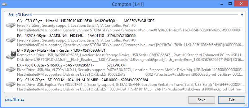 Compton 1.43 software screenshot