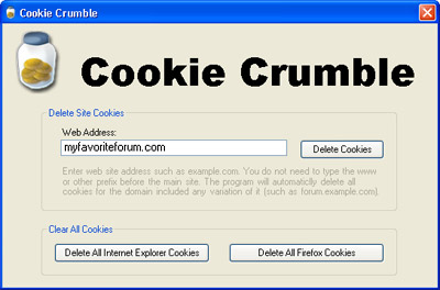 Cookie Crumble 1.0 software screenshot