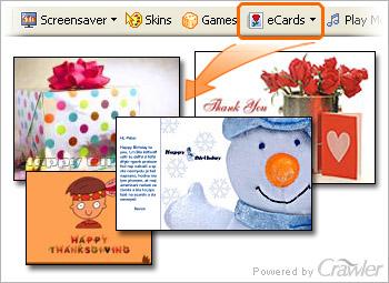Crawler FREE eCards 4.5 software screenshot