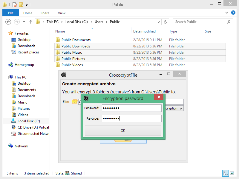 CrococryptFile 1.6 software screenshot