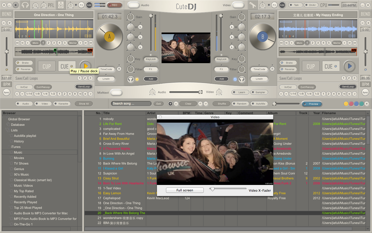 CuteDJ 4.3.4.0 software screenshot