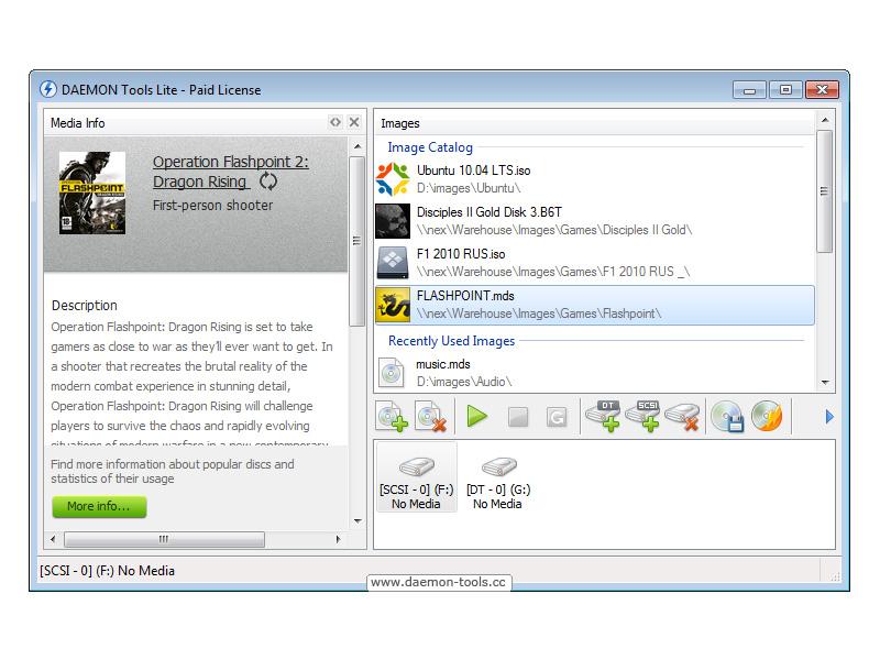 DAEMON Tools Lite 10.6.0.2075 software screenshot