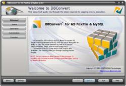 DBConvert for FoxPro & MySQL 2.1.0 software screenshot