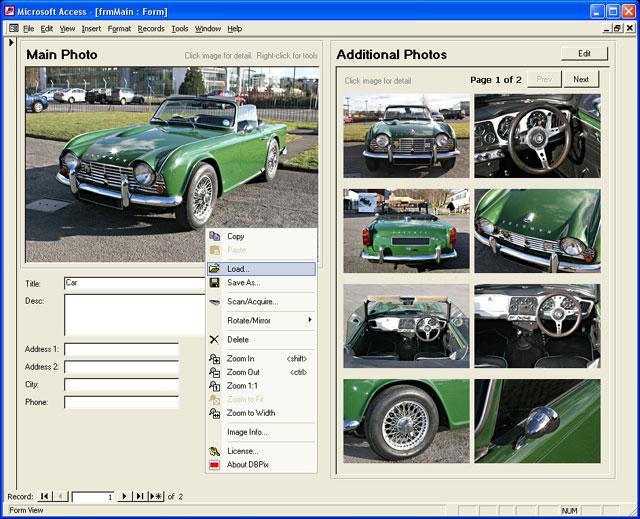 DBPix 2.0.3.2 software screenshot