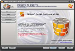 DBSync for FoxPro & MSSQL 2.0.2 software screenshot