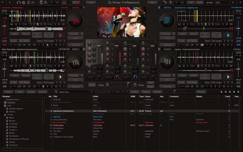 DJ Mixer Express 5.8.3 software screenshot