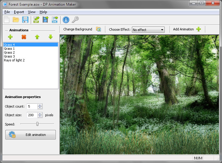 DP Animation Maker 3.3.9 software screenshot