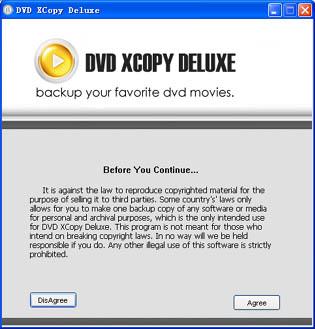 DVD XCopy Deluxe Platinum 7.6.03 software screenshot