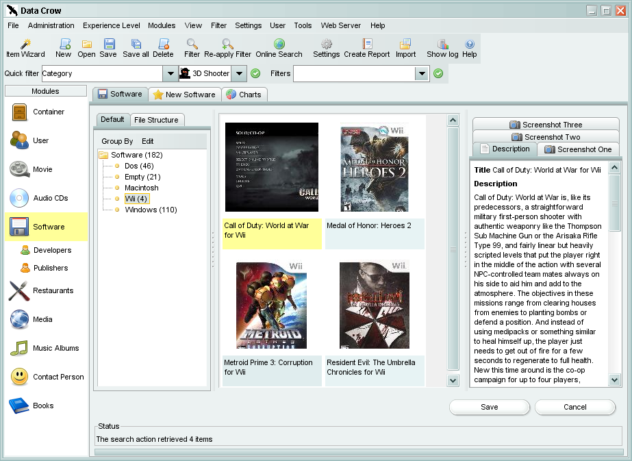 Data Crow 4.2.1 software screenshot