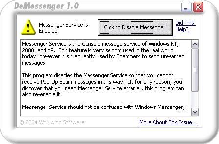 DeMessenger 1.0 software screenshot