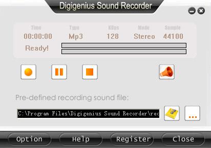DigiGenius Sound Recorder 3.6.6 software screenshot