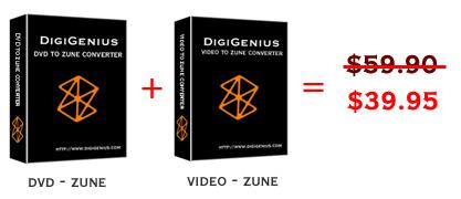 Digigenius DVD to Zune Converter + Video 3.6.6 software screenshot