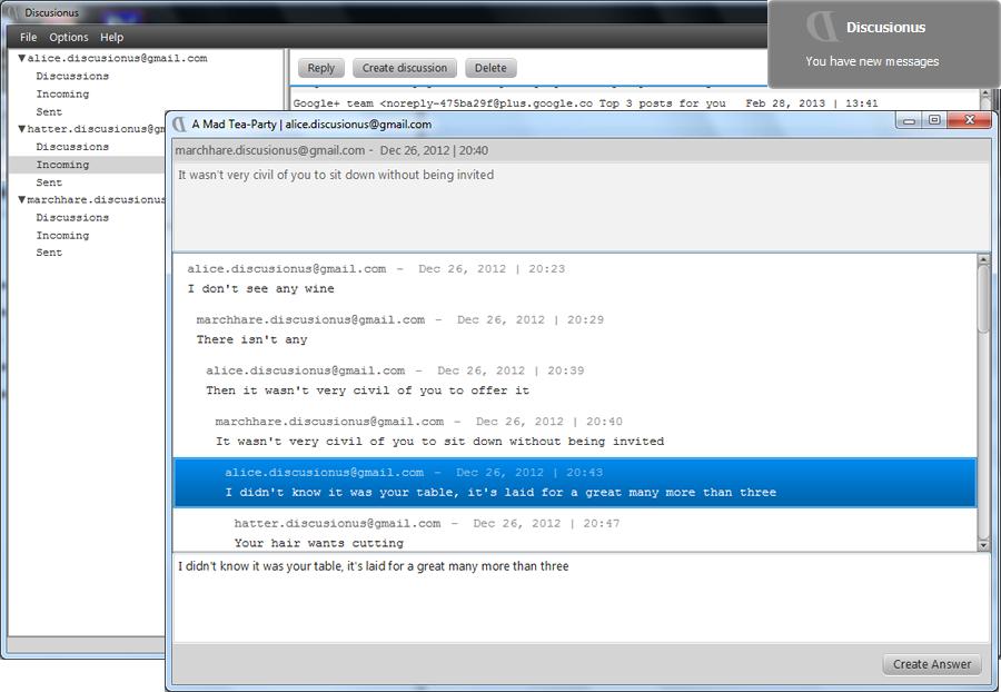 Discusionus 2.1 software screenshot