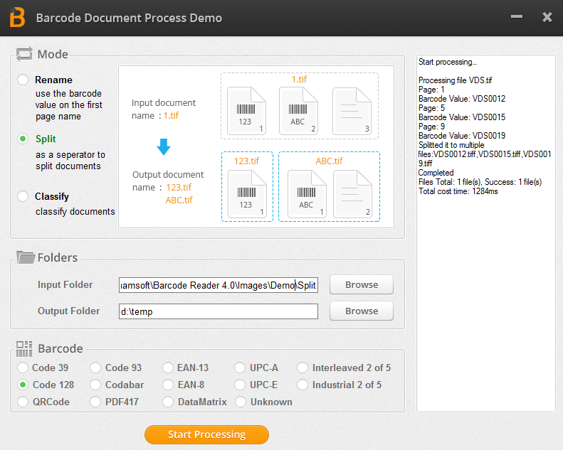 Dynamsoft Barcode Reader 5.1 software screenshot