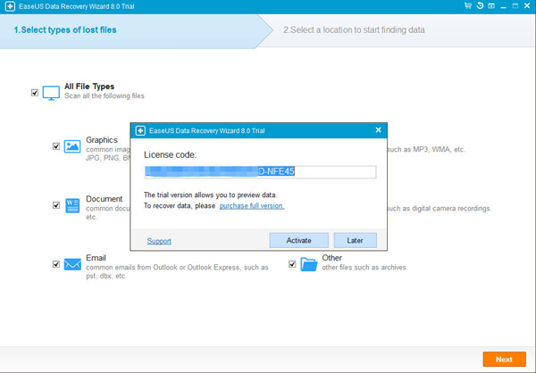 EASEUS Data Recovery Wizard Free 11.5.0 software screenshot