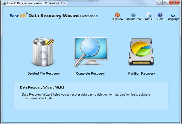 EASEUS Data Recovery Wizard Professional 11.6.0 software screenshot