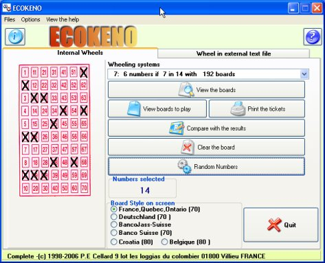 ECOKENO 3.83 software screenshot