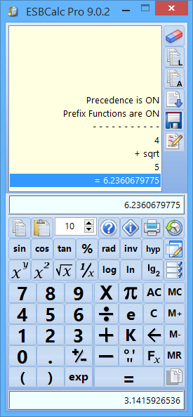ESBCalc Pro 9.2.1 software screenshot