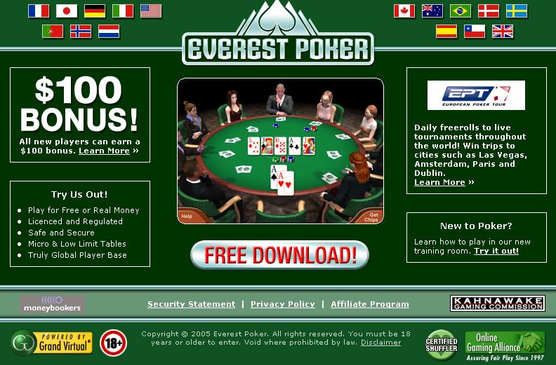 !$! EVEREST POKER 2006 !$! 3.2 software screenshot
