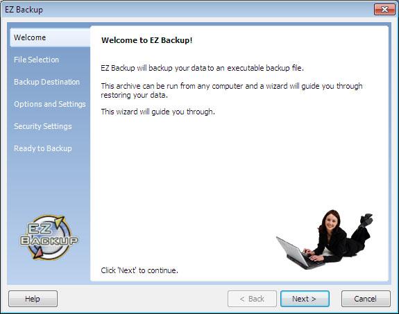 EZ Backup Outlook Express Premium 6.32 software screenshot