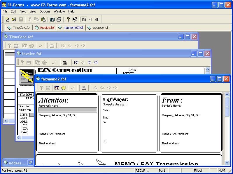 EZ-Forms PRO Viewer 5.50.ec.220 software screenshot
